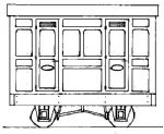 Parkside Dundas DM76  Freelance Panelled 4-Wheel 1st Class 2 Compartment Coach